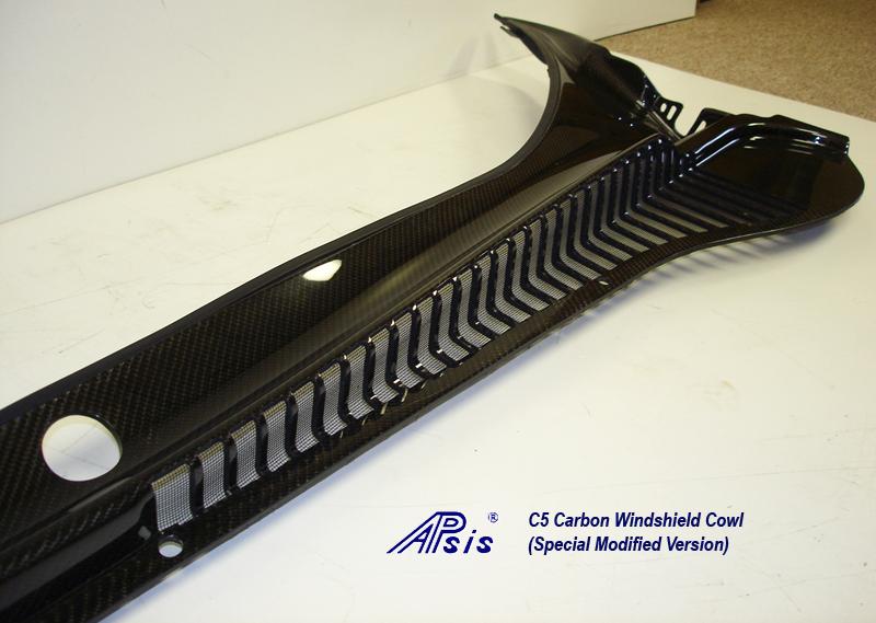 C5 CF Windshield Cowl-modified no bumps-close shot-3