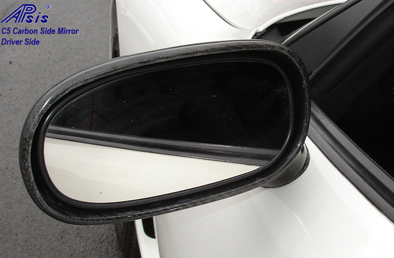 C5 Carbon Side Mirror-installed-from mirror side-driver-outdoor-2