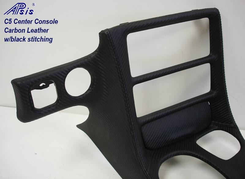 C5 Center Console-carbon leather-close shot-1a-no flash