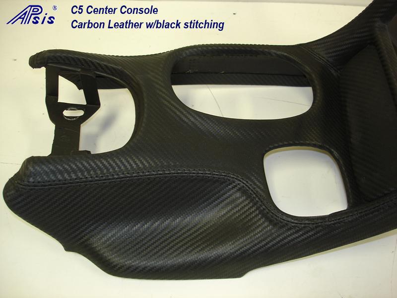 C5 Center Console-carbon leather-close shot-2