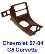 C5 Corvette Burlwood Full Dash installed- 150-w-description