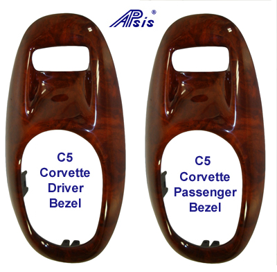 C5 Corvette Lamination Burl-Door Bezel - 200