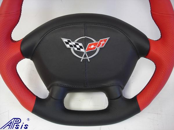 C5 D-Type SW-torch red + ebony w-airbag cover w-split logo-1-bottom