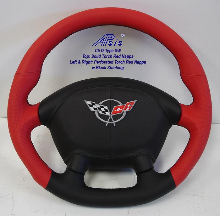 C5 D-Type SW-torch red + ebony w-airbag cover w-split logo-1