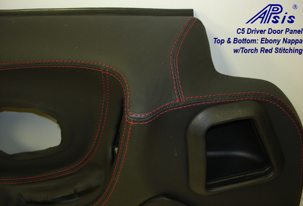 C5 Door Panel-EB+EB w-red stitching-DF-close shot-1-show stitching