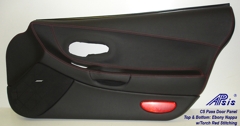 C5 Door Panel-EB+EB w-red stitching-PF-full-front view-best