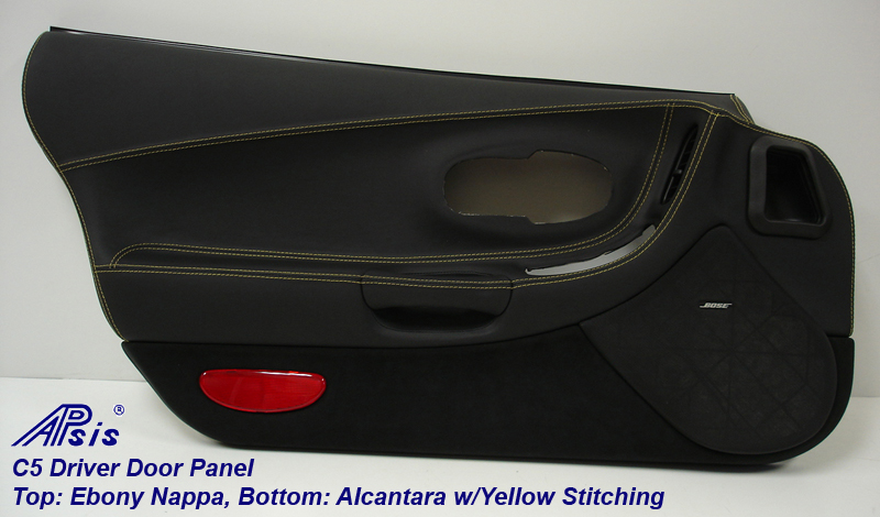 C5 Door Panel-ebony+alcantara w-yellow-df-full-1
