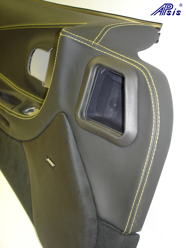 C5 Door Panel-ebony+alcantara w-yellow stitching-DF-close shot-9