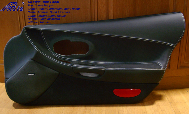C5 Door Panel-ebony + perforated ebony + alcantara-pass-1