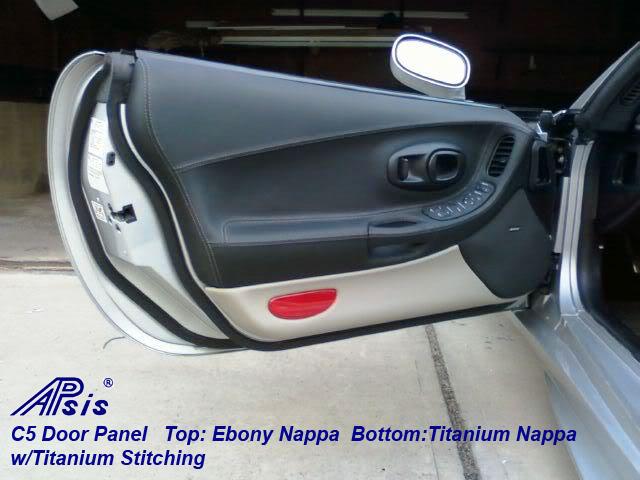 C5 Door Panel-ebony+titanium-installed-df-1