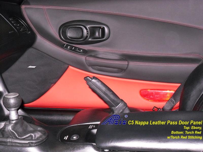 C5 Door Panel ebony + torch red-installed-pass-1