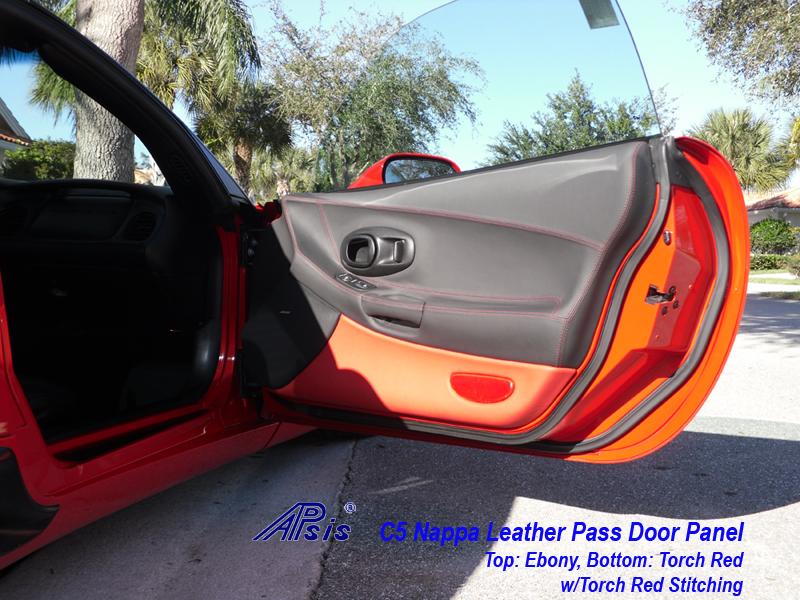 C5 Door Panel ebony + torch red-installed-pass-3