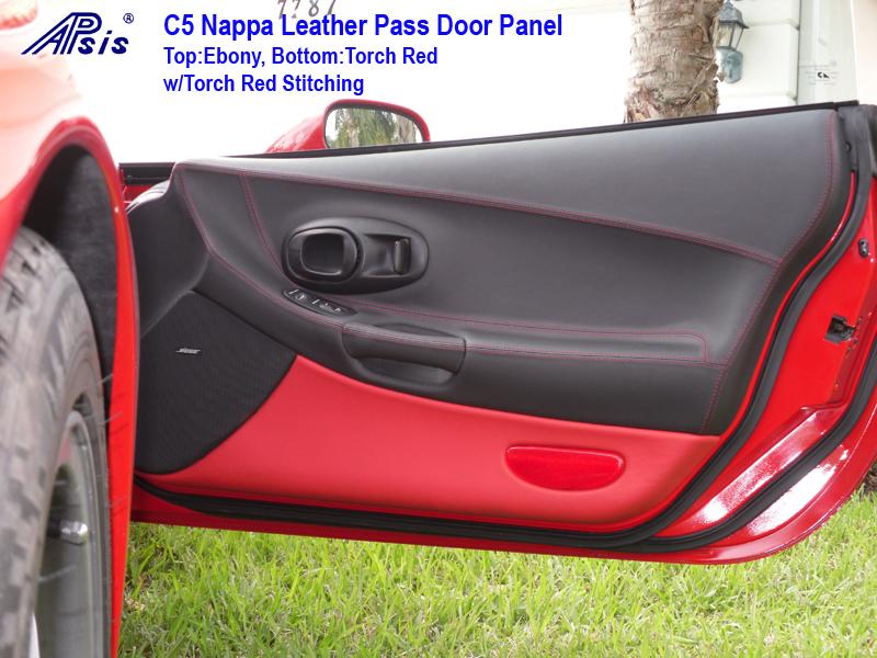 C5 Door Panel ebony + torch red-installed-pass-6