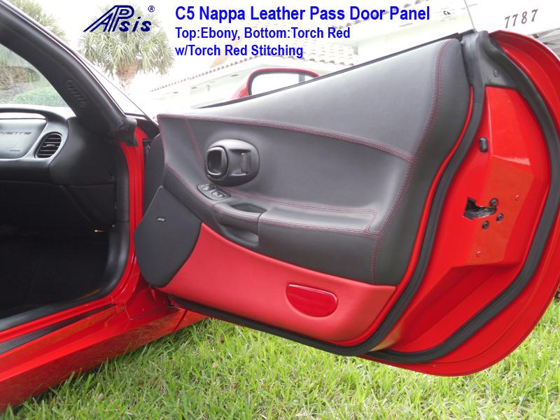 C5 Door Panel ebony + torch red-installed-pass-7