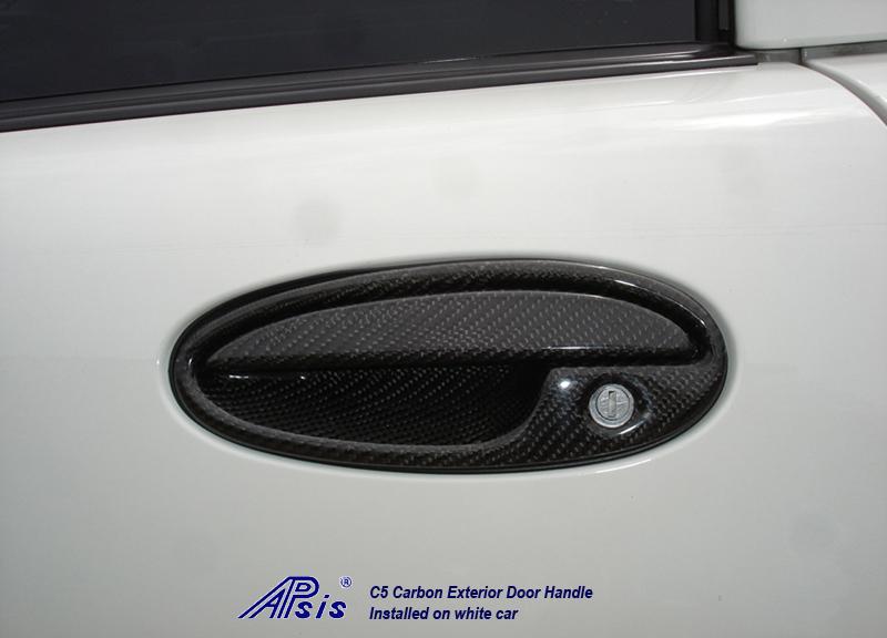 C5 Exterior Door Handle-CF-driver-installed-2 no crop