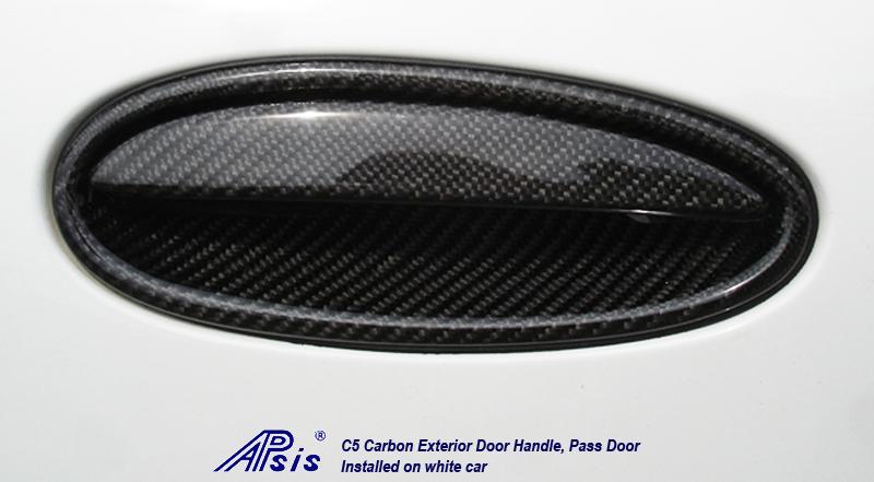 C5 Exterior Door Handle-CF-pass-installed-3 crop