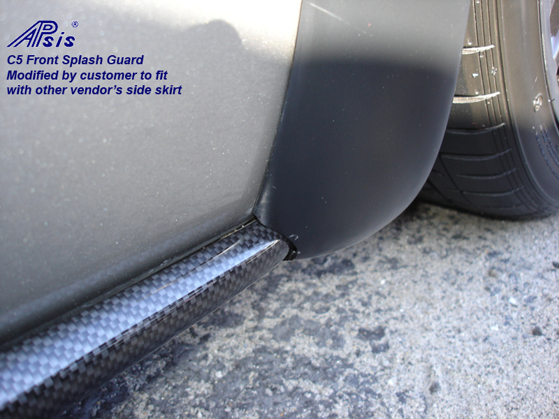 C5 Front Splash Guard-modified to fit with other vendors side skirt-1a