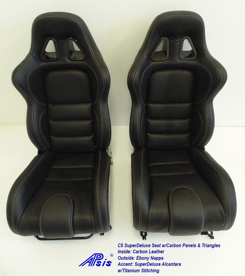 C5 SDX Seat w-carbon panel-EB+CL+SA w-Ti pair-1