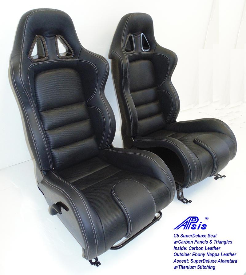 C5 SDX Seat w-carbon panel-EB+CL+SA w-Ti pair-5