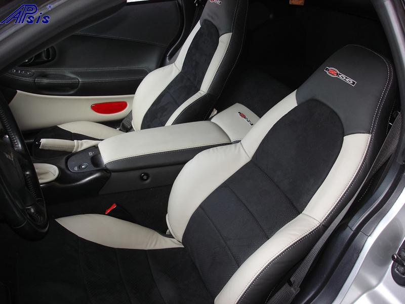 C5 Seat Cover-titanium bolster-alcantara center-full view-1