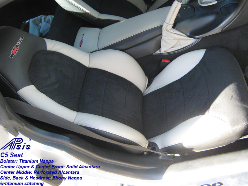 C5 Seat Cover-titanium bolster-alcantara center-full view-don-2