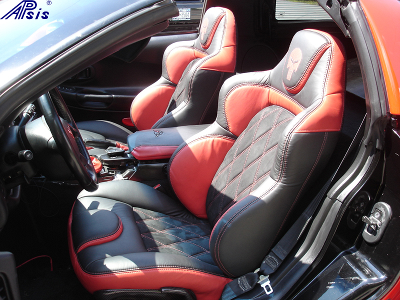 C5 UltraDeluxe Seat EB+TR+AL w-double diamond stitching-installed-driver-3 no flash