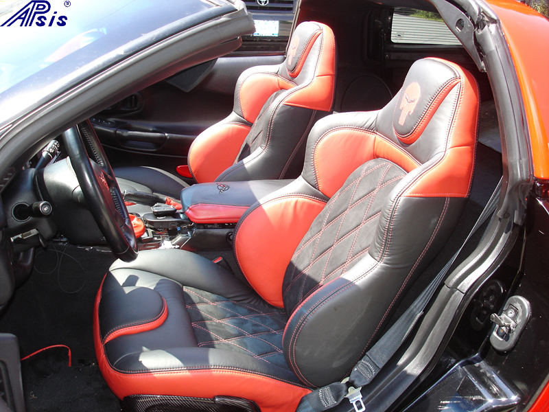 C5 UltraDeluxe Seat EB+TR+AL w-double diamond stitching-installed-driver-3 w-flash