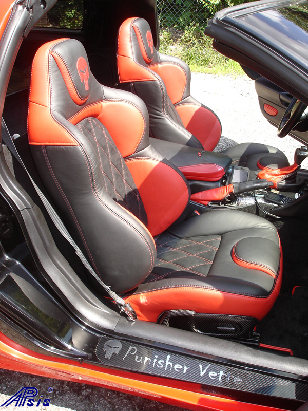 C5 UltraDeluxe Seat EB+TR+AL w-double diamond stitching-installed-pass-2