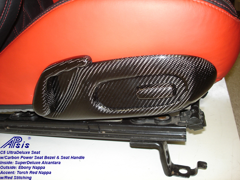 C5 UltraDeluxe Seat-EB+TR-close shot-show carbon bezel-1