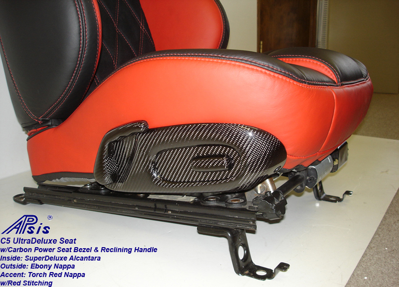C5 UltraDeluxe Seat-EB+TR-close shot-show carbon bezel-2