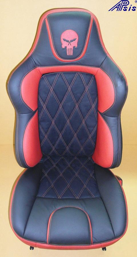 C5 UltraDeluxe Seat-ebony+vy w-skull-1