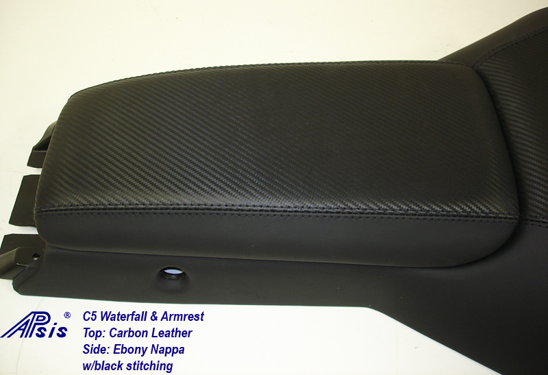 C5 Waterfall+Armrest-carbon leather & nappa-armrest only-1