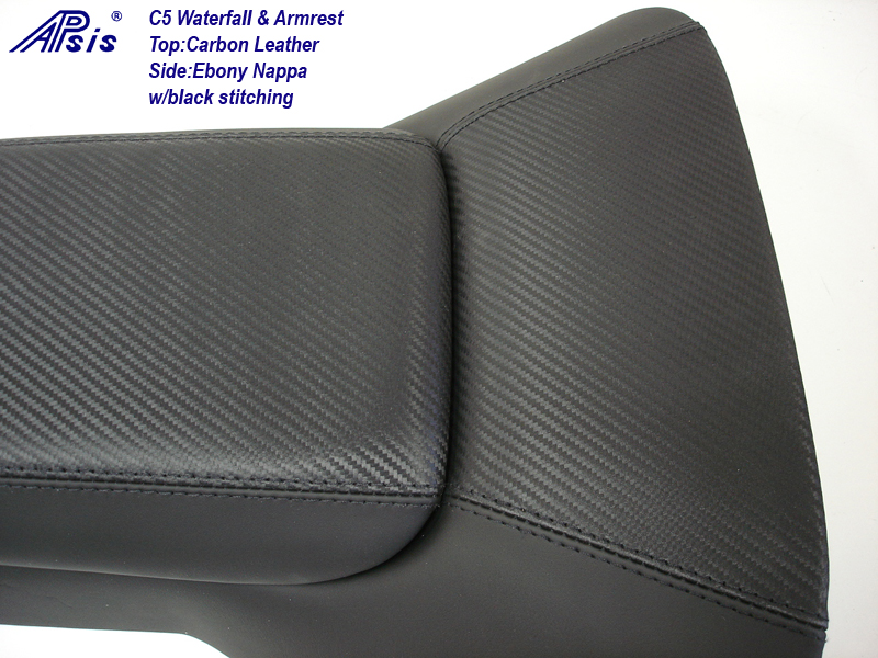 C5 Waterfall+Armrest-carbon leather & nappa-close shot-2
