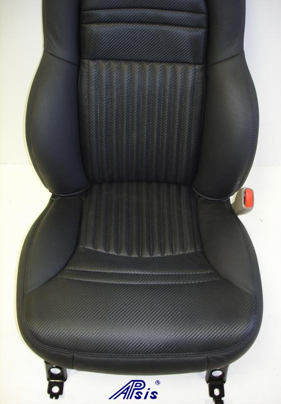 C5 Z06 Seat Cover w-half carbon leather half nappa w-blk stitching-close shot-3