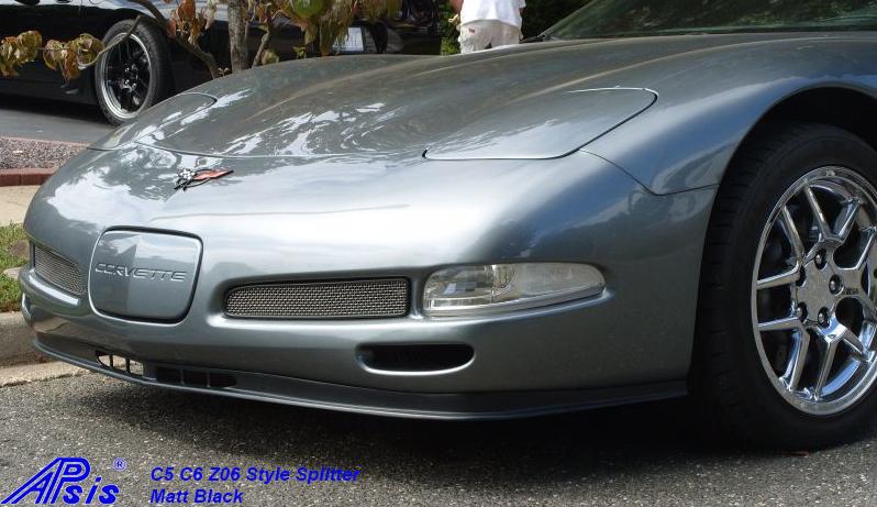 C5 Z06 Style Splitter-installed on gray car-1