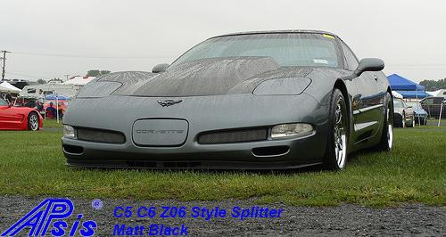 C5 Z06 Style Splitter-installed on gray car-3