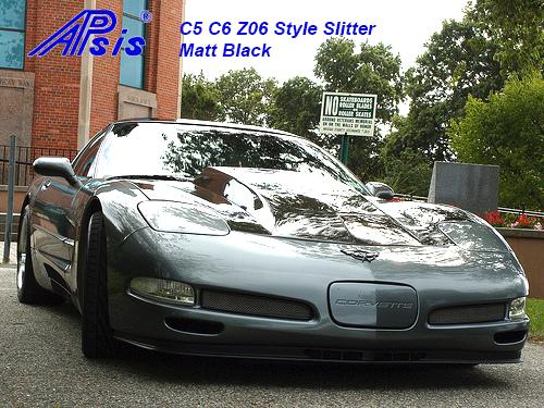 C5 Z06 Style Splitter-installed on gray car-4