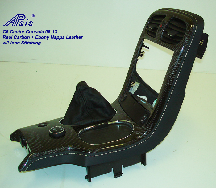 C6 08-UP Center Console-ebony w-linen stitching w-carbon-individual-2