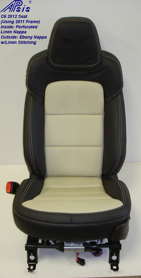 C6 2012 Seat Cover-ebony+linen-driver-front view-1a-better