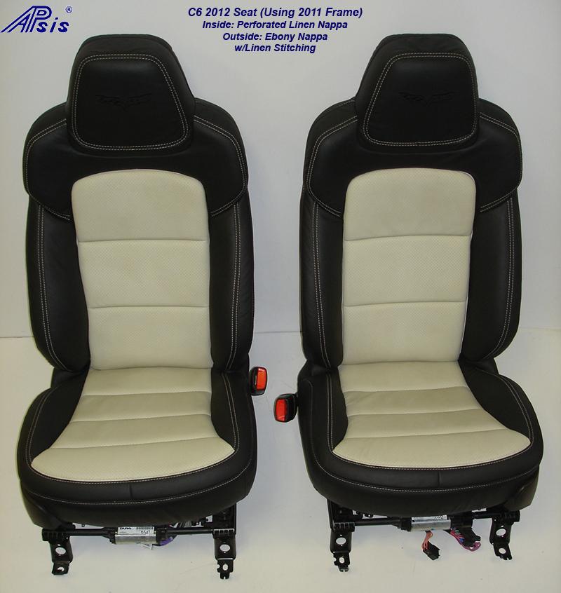 C6 2012 Seat-ebony+linen-pair-front view-1