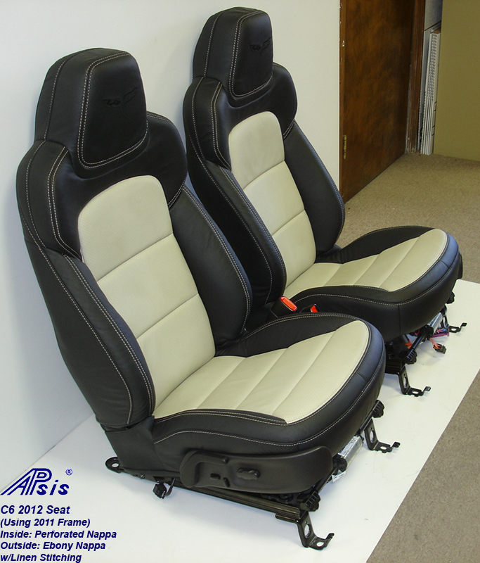 C6 2012 Seat-ebony+linen-pair-side view-2