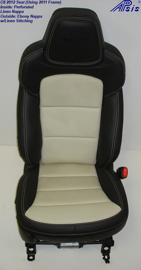 C6 2012 Seat-ebony+linen-pass-front view-2