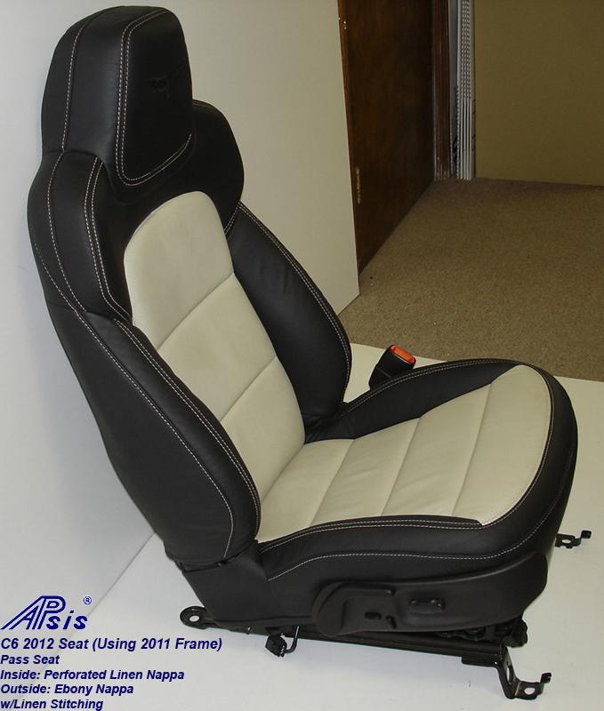 C6 2012 Seat-ebony+linen-pass-side view-1