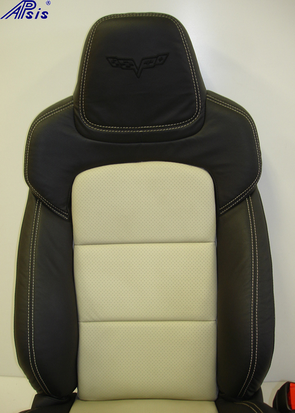 C6 2012 Seat-ebony+linen-upper only-front view-1