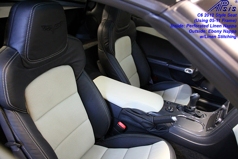 C6 2012 Seat-ebony + perf linen w-linen stitching-installed-1