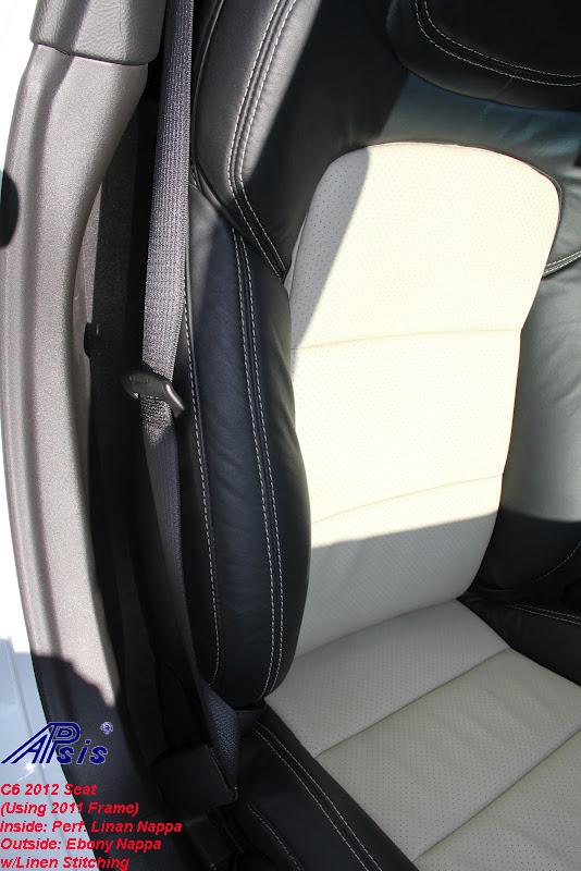 C6 2012 Seat-ebony + perf linen w-linen stitching-installed-11