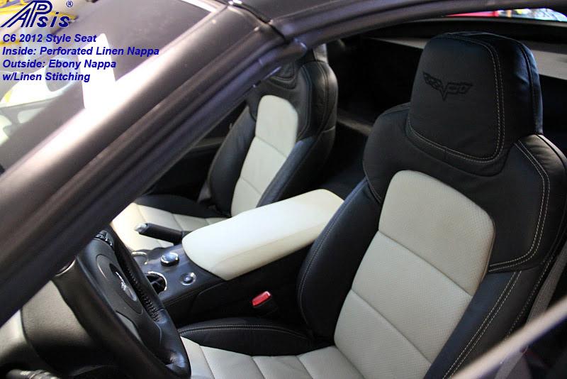 C6 2012 Seat-ebony + perf linen w-linen stitching-installed-3