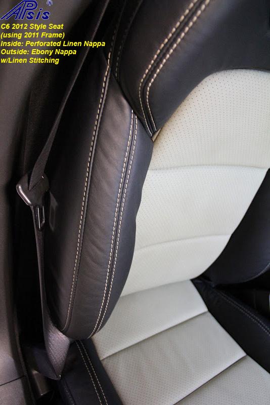 C6 2012 Seat-ebony + perf linen w-linen stitching-installed-4