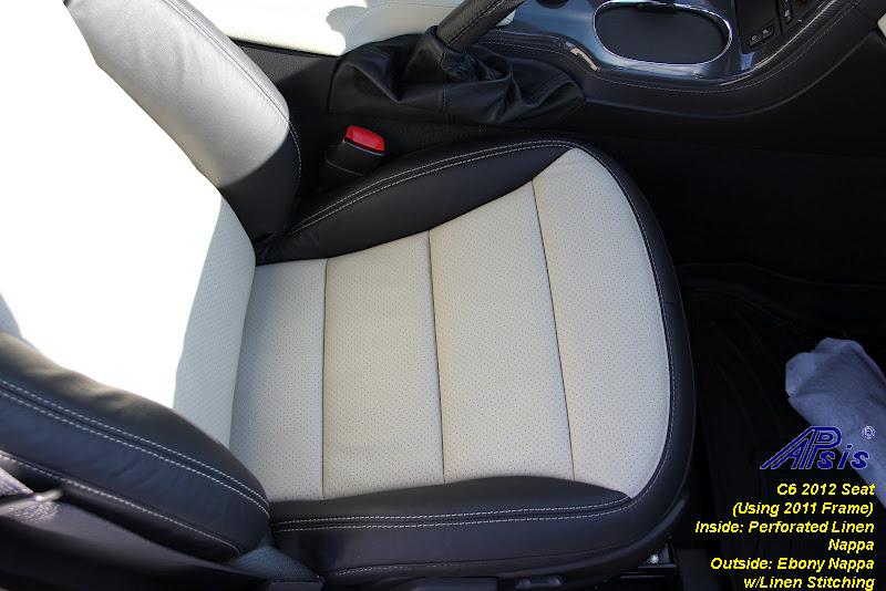 C6 2012 Seat-ebony + perf linen w-linen stitching-installed-9