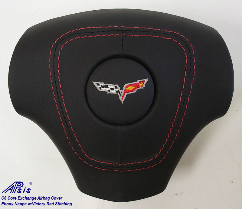 C6 Airbag Cover-core exchange-EB w-red stitching-1